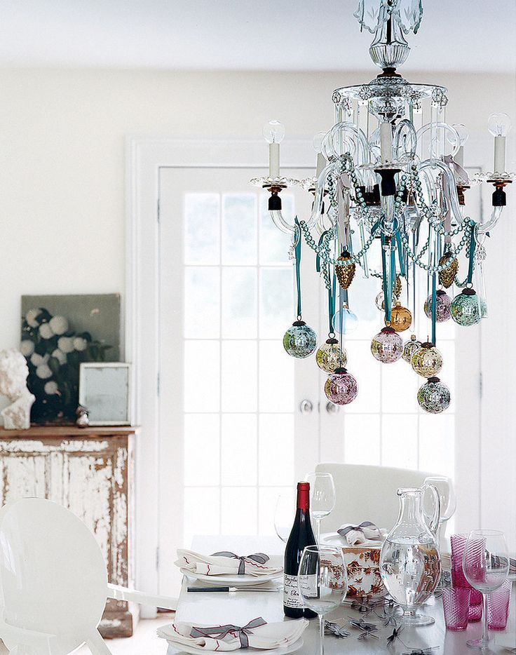 Decorating for the holidays :: Creative ways to use ornaments. The Entertaining House. Image via  Pop Sugar