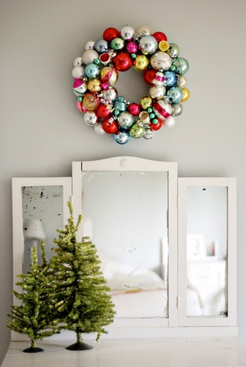 Decorating for the holidays :: Creative ways to use ornaments. The Entertaining House. Image via  No Biggie.