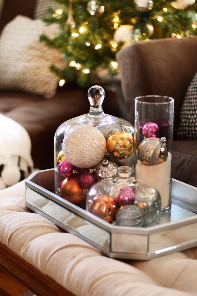 Decorating for the holidays :: Creative ways to use leftover ornaments. The Entertaining House.