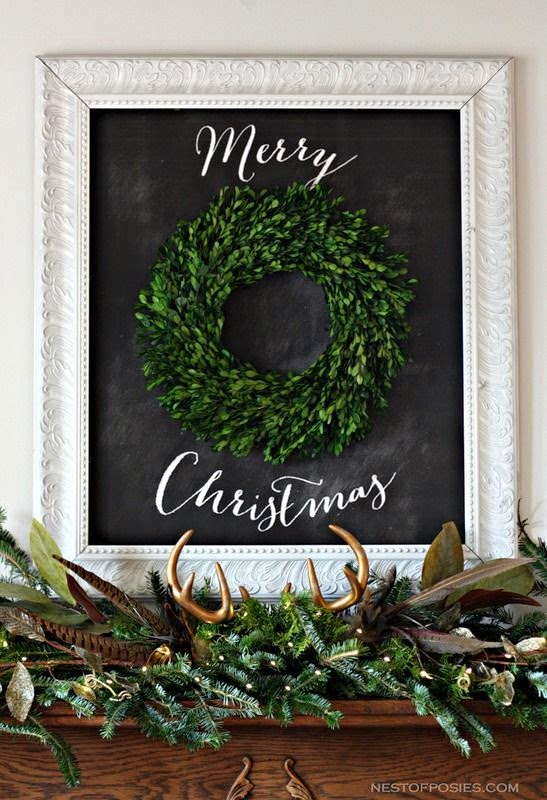 Decorating for the holidays :: Decorating for the holidays when you don't have a tree. The Entertaining House. Image via Nest of Posies.