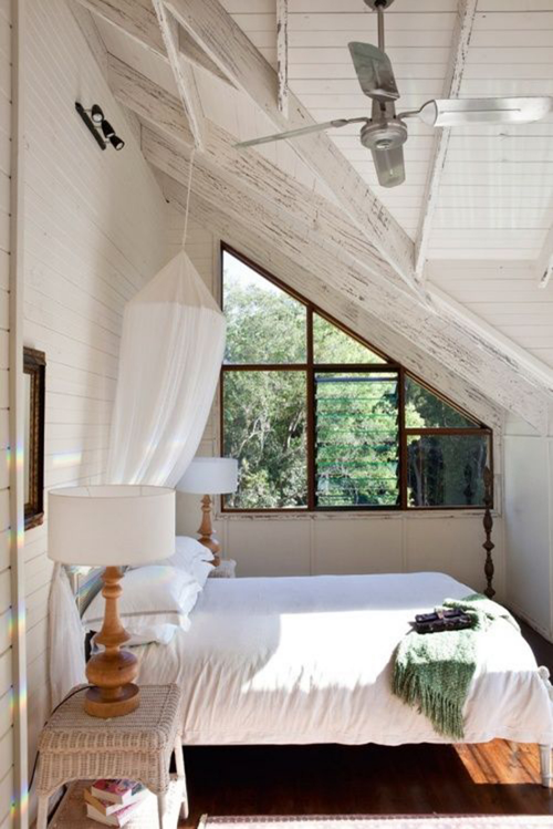 13 Sublime Attic Transformations - The Sky's the Limit! The Entertaining House. Image via Color Me Carla