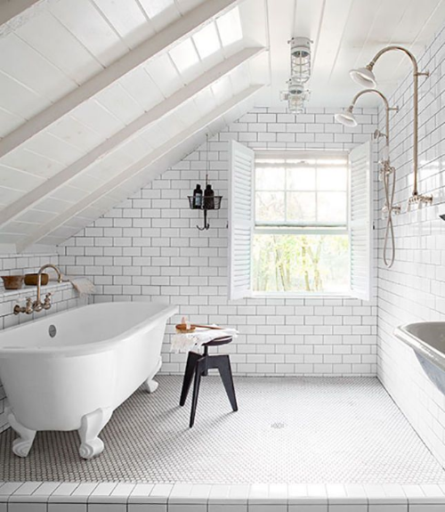 13 Sublime Attic Transformations - The Sky's the Limit! The Entertaining House. Image via  Domino Magazine