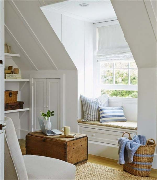 13 Sublime Attic Transformations - The Sky's the Limit! The Entertaining House. Image via  Wood Home