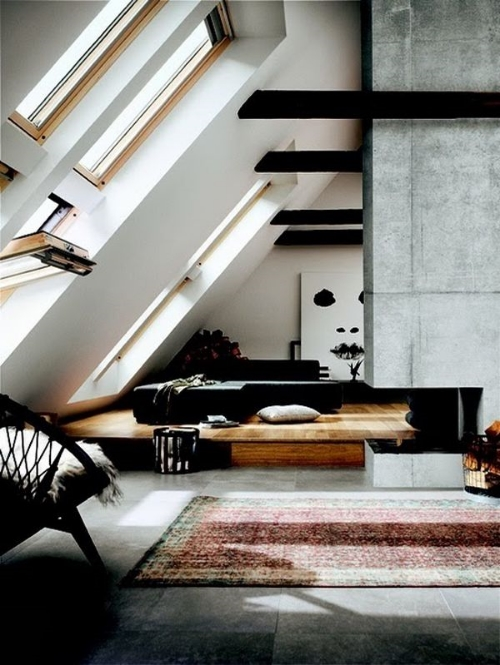 13 Sublime Attic Transformations - The Sky's the Limit! The Entertaining House. Image via Blood and Champagne