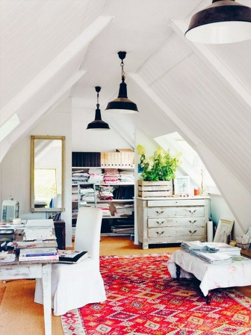 13 Sublime Attic Transformations - The Sky's the Limit! The Entertaining House. Image via  My Domaine
