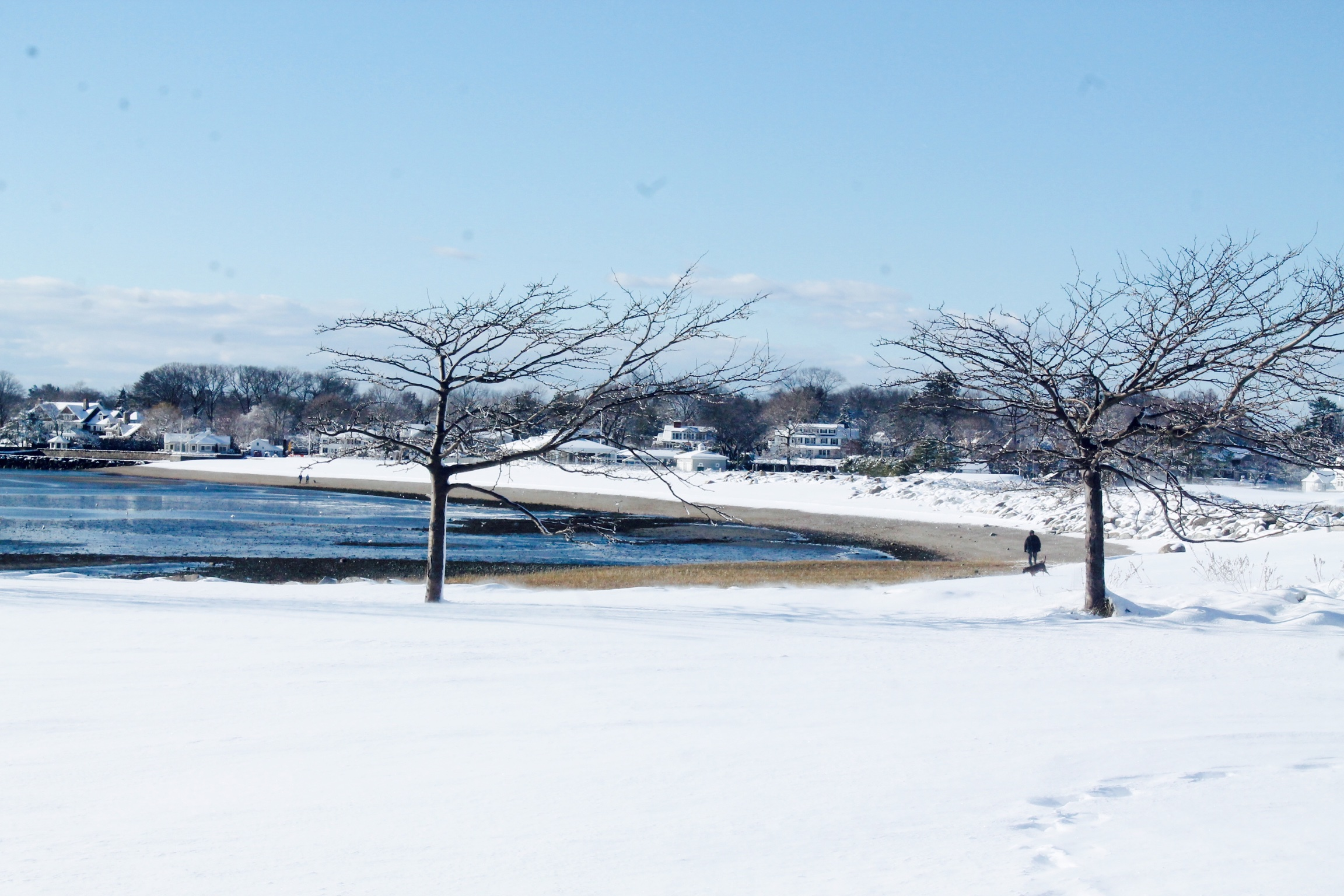 The Beach - Serenity after the snowfall. Image property of The Entertaining House