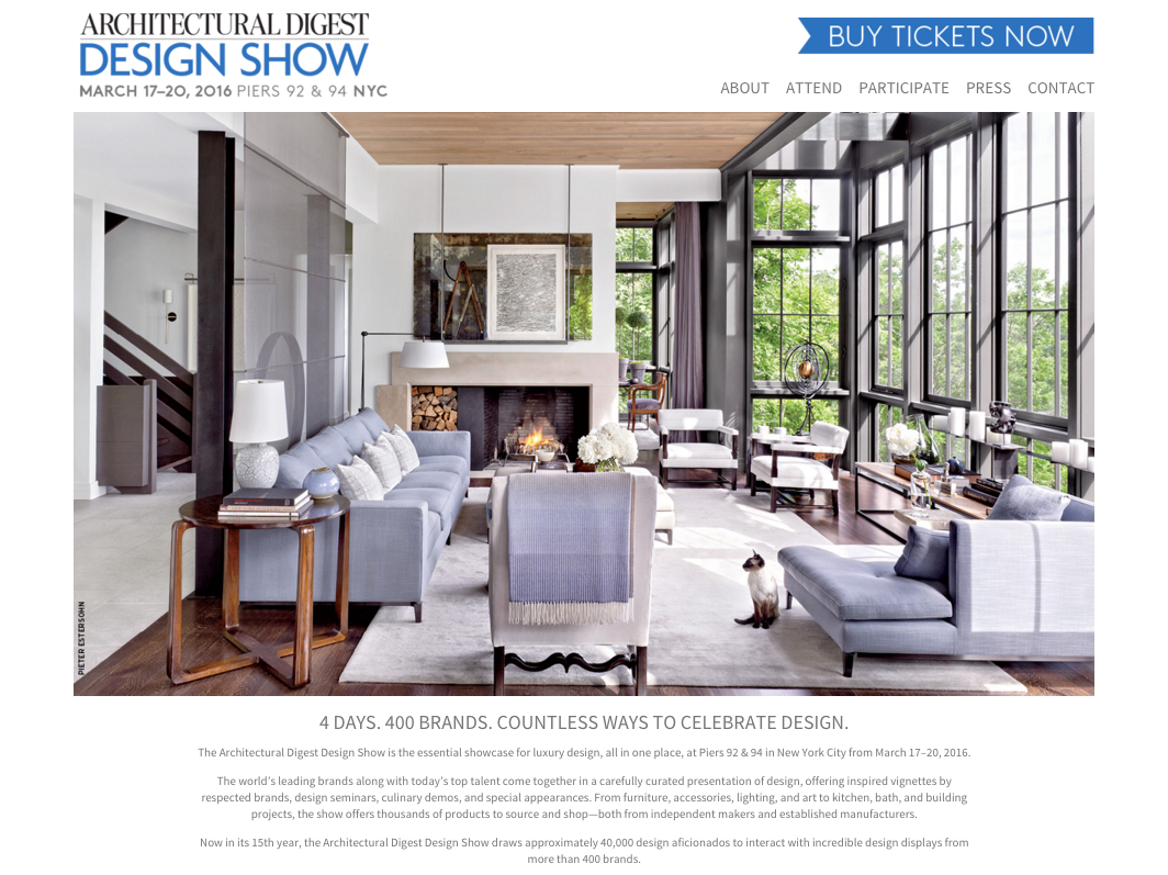 Architectural Digest Design Show 2016 Will You Be There The Entertaining House