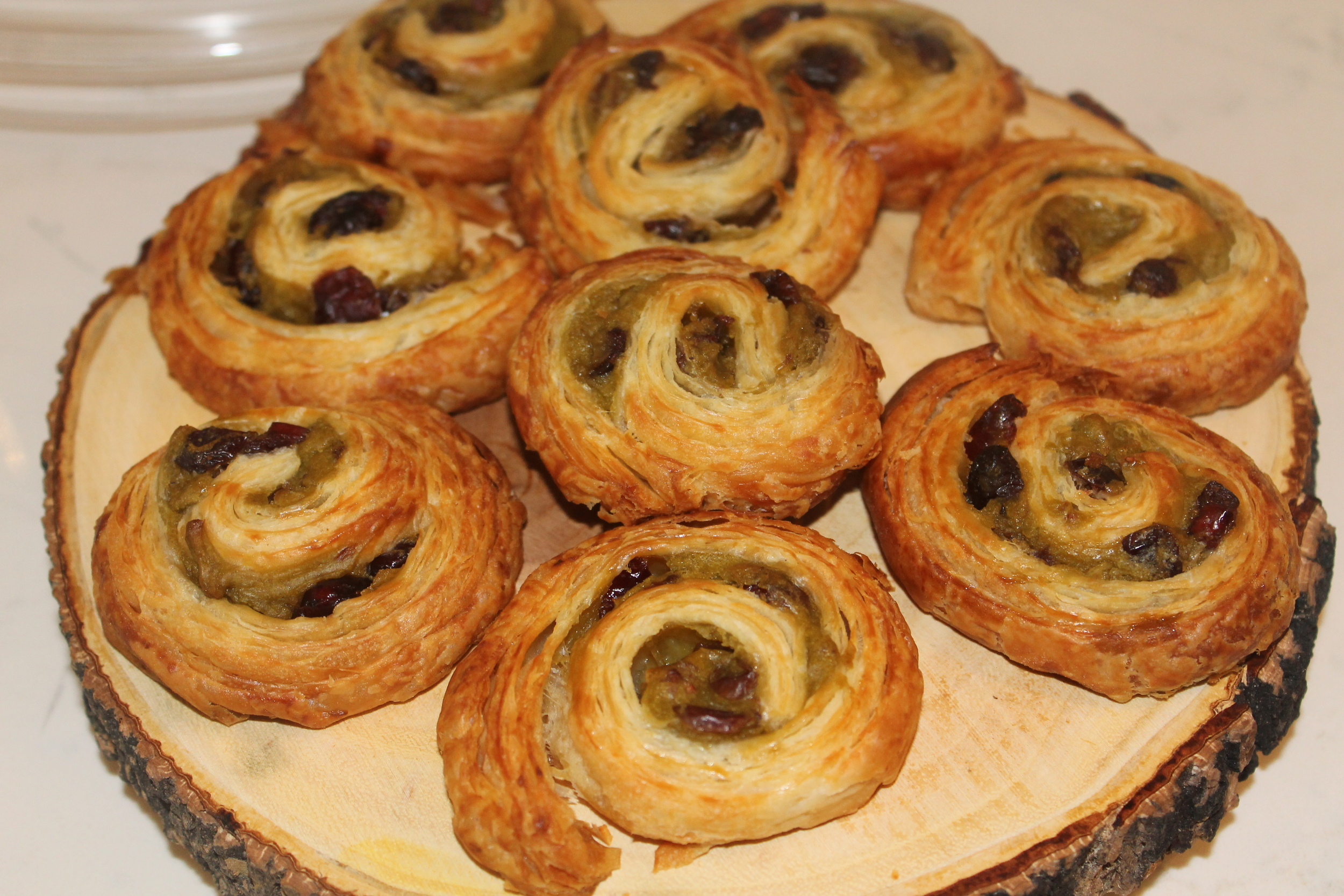 Raisin Croissants by Franck. Image property of The Entertaining House.