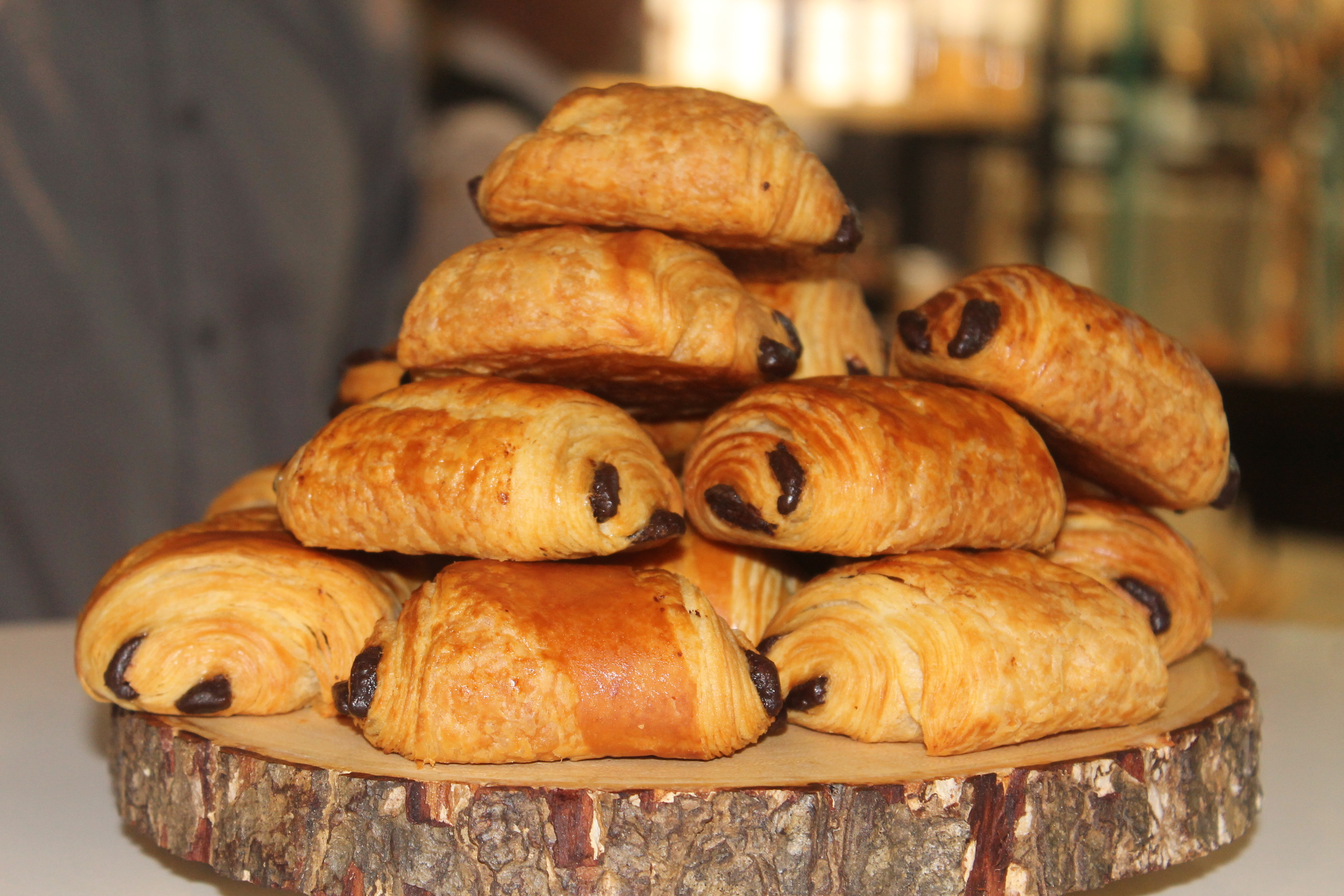 Mouthwatering Chocolate Croissants by Franck. Image property of The Entertaining House.