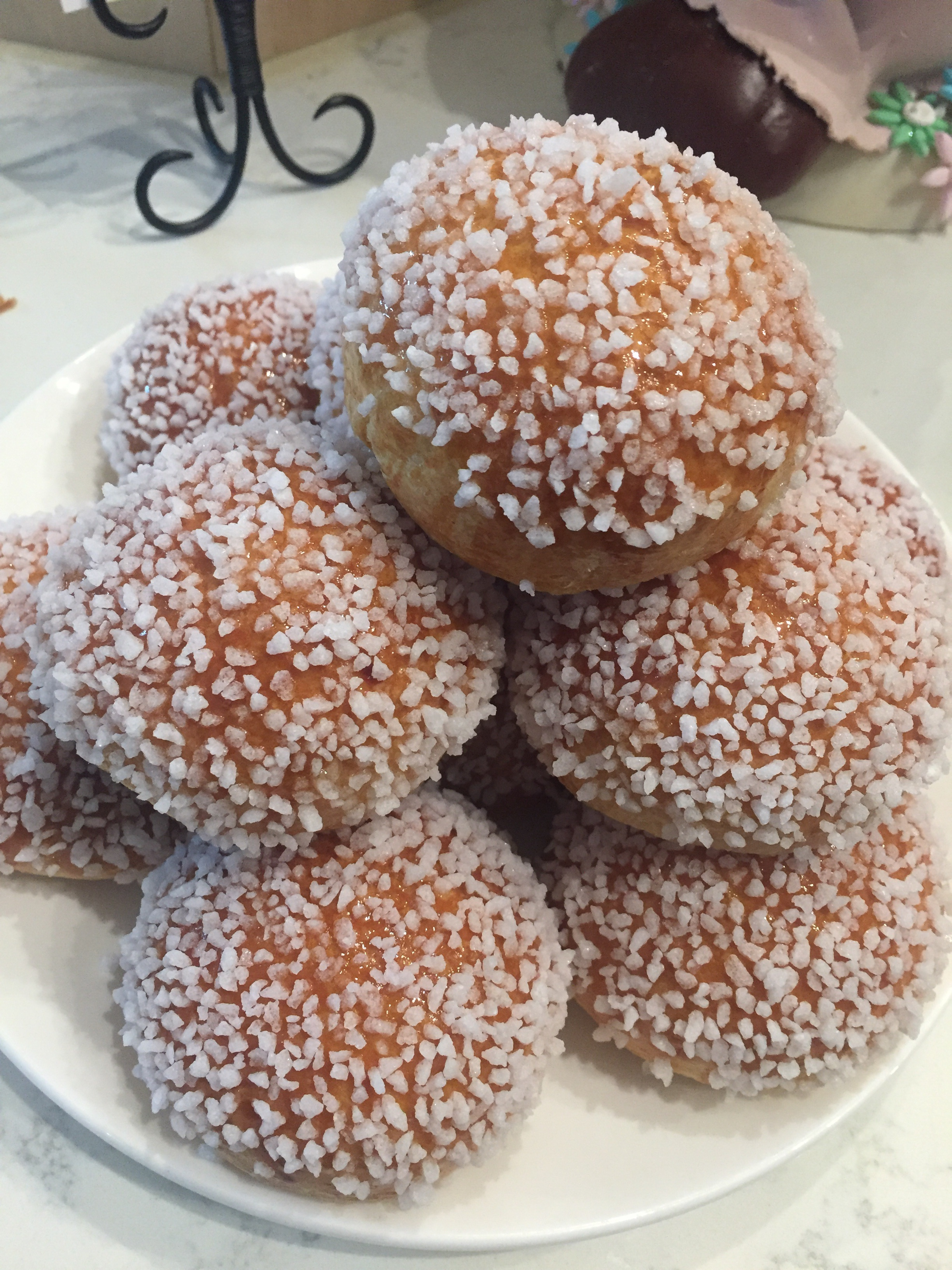 Sugared Doughnuts by Franck. Image property of The Entertaining House.