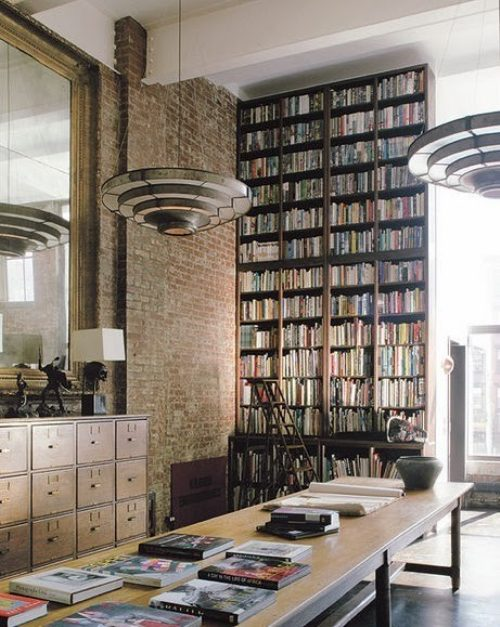 Stunning ways to incorporate your book collections into your home decor. Image Tumblr.