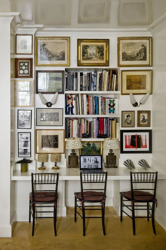 Stunning ways to incorporate your book collections into your home decor. Image Domaine Home.
