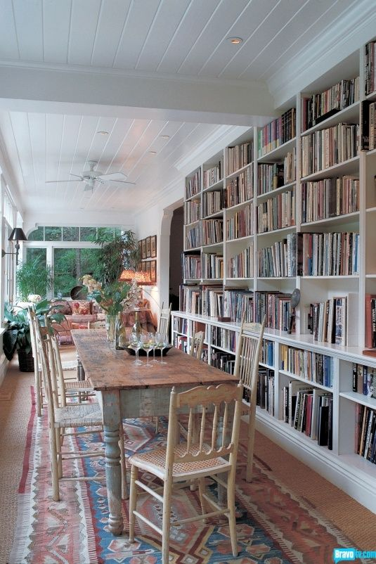 Stunning ways to incorporate your book collections into your home decor. Image Bravo TV
