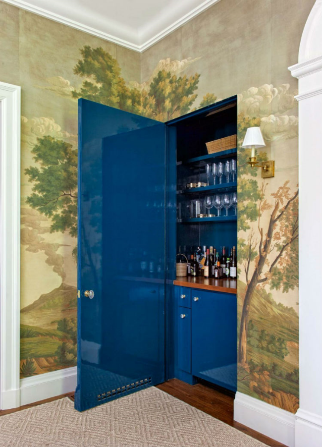 20 Stirring Ideas for Creating a Stunning at home Bar. Image Miles Redd
