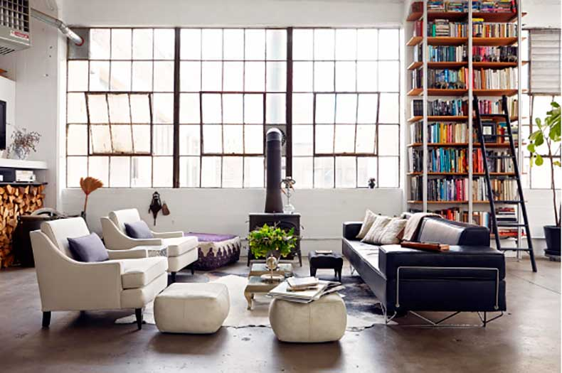 The many uses for the library ladder in the home. Image Alec Hemmer