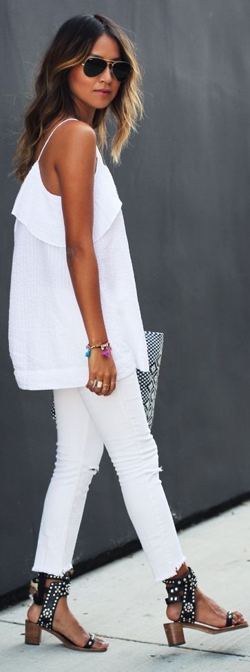 White is Hot! What to wear this summer via The Entertaining House. Image via LoLoBu