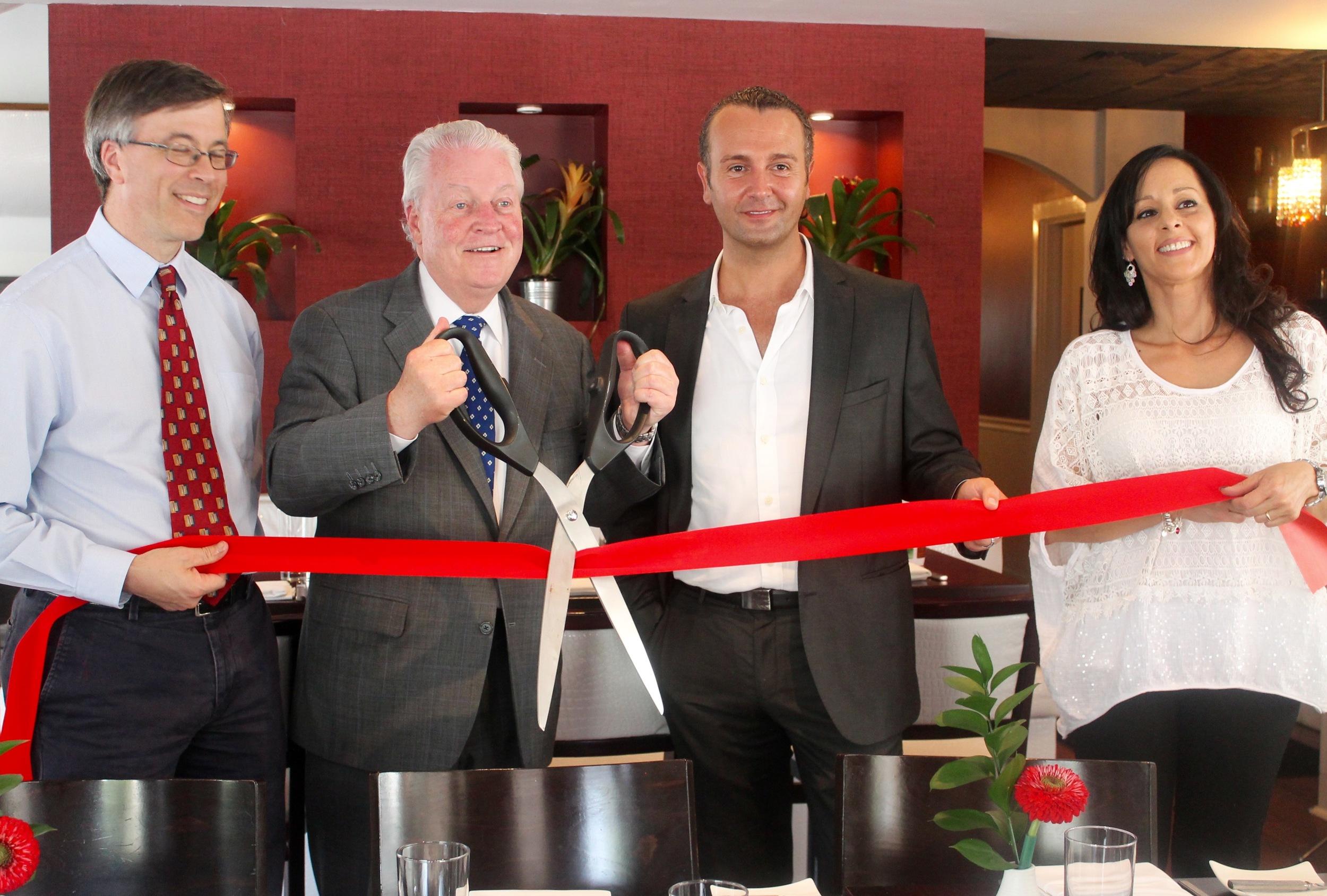 Toto Restaurant, Fairfield CT. Above: Mark Barnhart , Fairfield First Selectman Michael Tetreau, Antonio Ninivaggi and his wife Elena