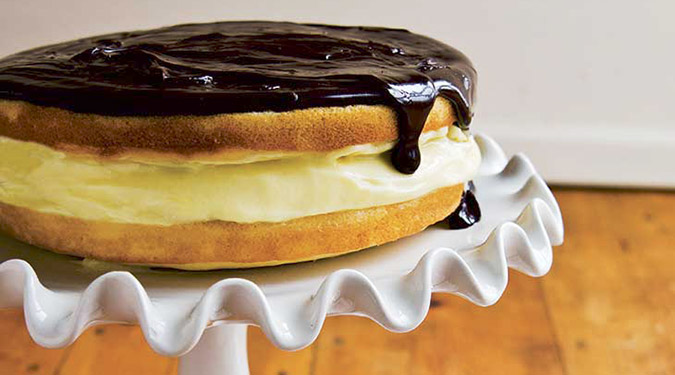 The best New England Food. Boston Creme Pie. Image via Yankee Magazine.