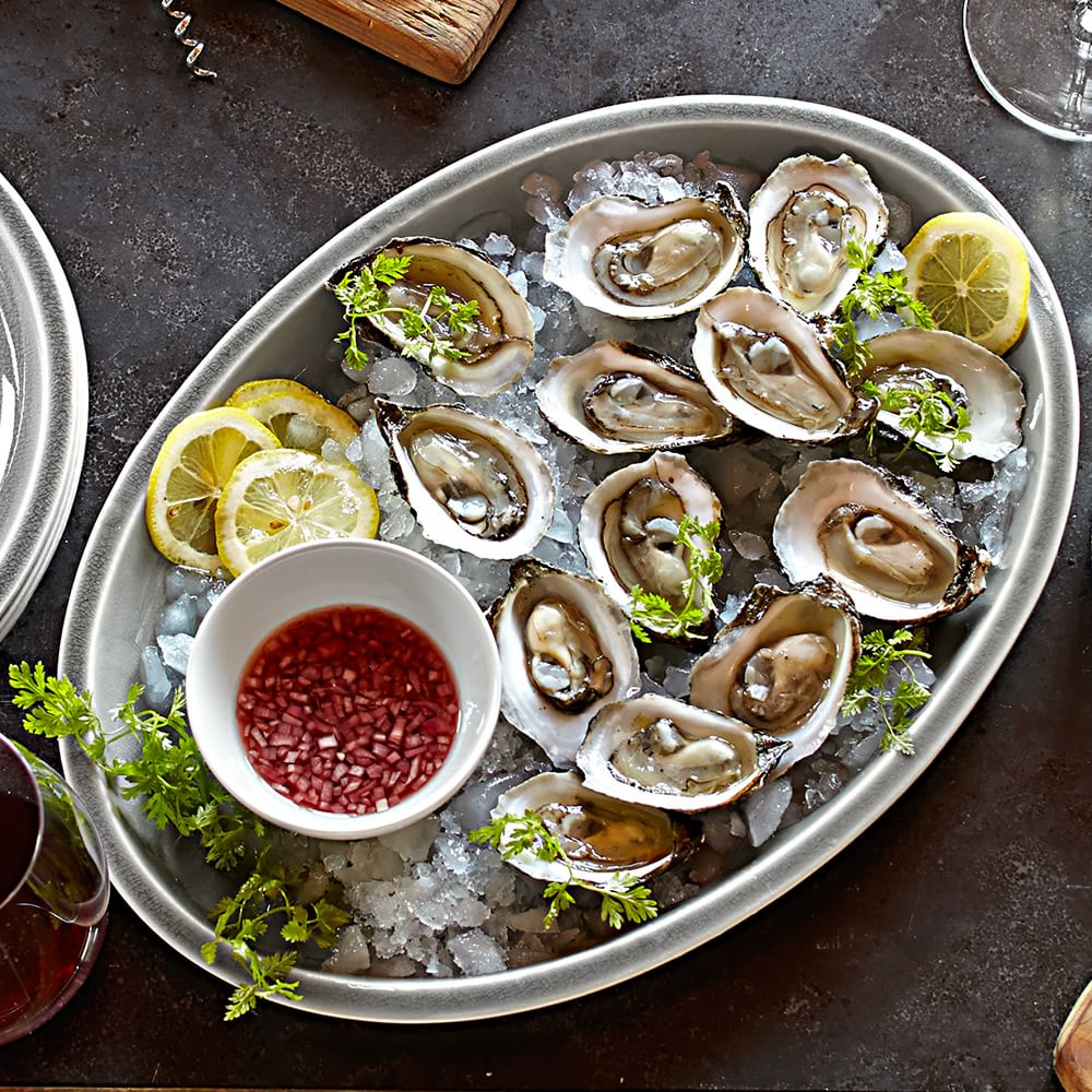 New England Delicacies. Oysters on the Half Shell. Image via Williams-Sonoma