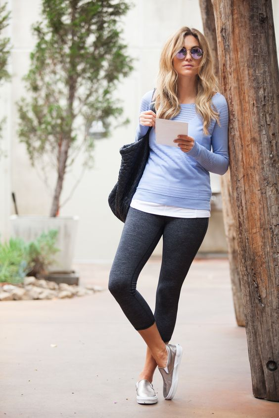 (Wearing) Yoga Pants (all the time will) Make you Fat. Image: Athleta