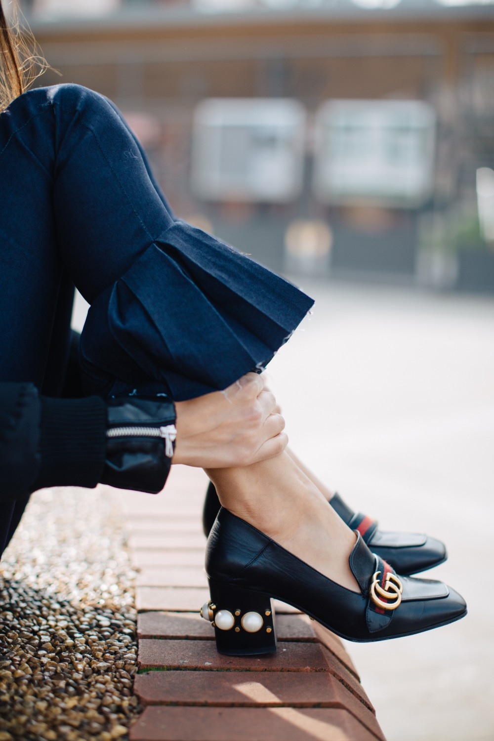 Put your best foot forward with the Granny Heel - The Entertaining House. Image via Soraya Bakhtiar. Shoes Gucci