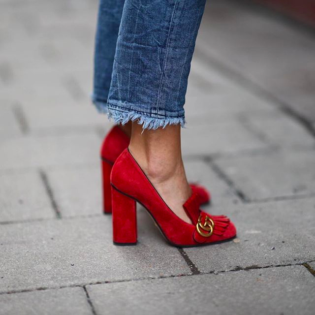 Put your best foot forward with the Granny Heel - The Entertaining House. Image via Pinterest. Shoes Gucci