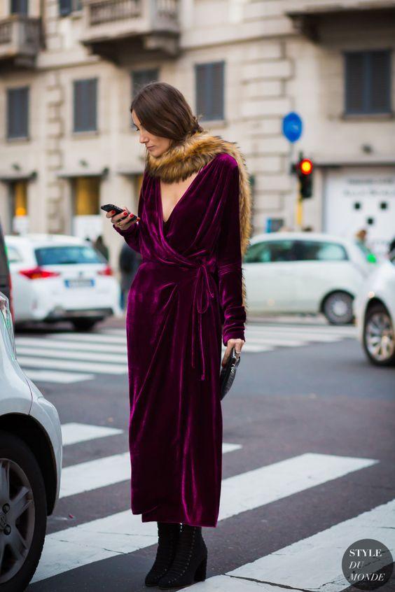 Velvet Crush :: The Season's Hottest Look. Image via Style du Monde