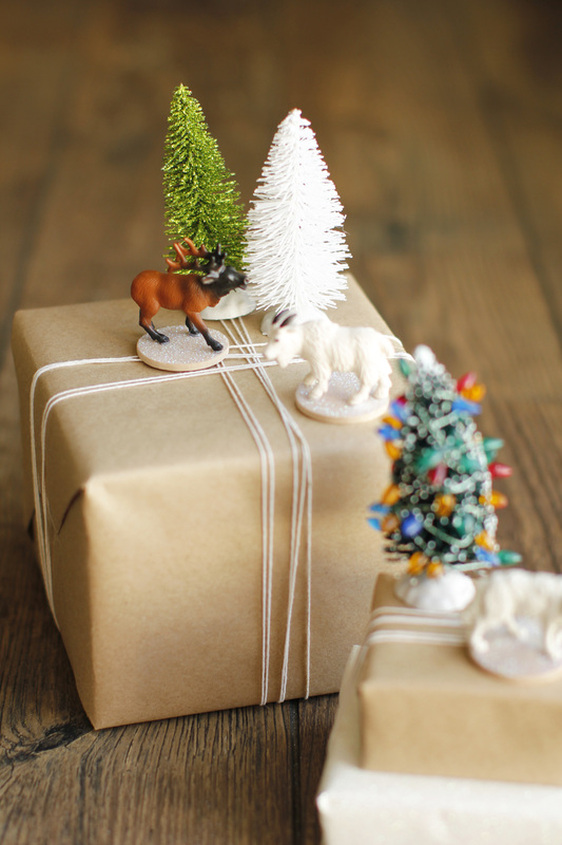 Simple Holiday Wrapping Made Easy - The Entertaining House Image  via