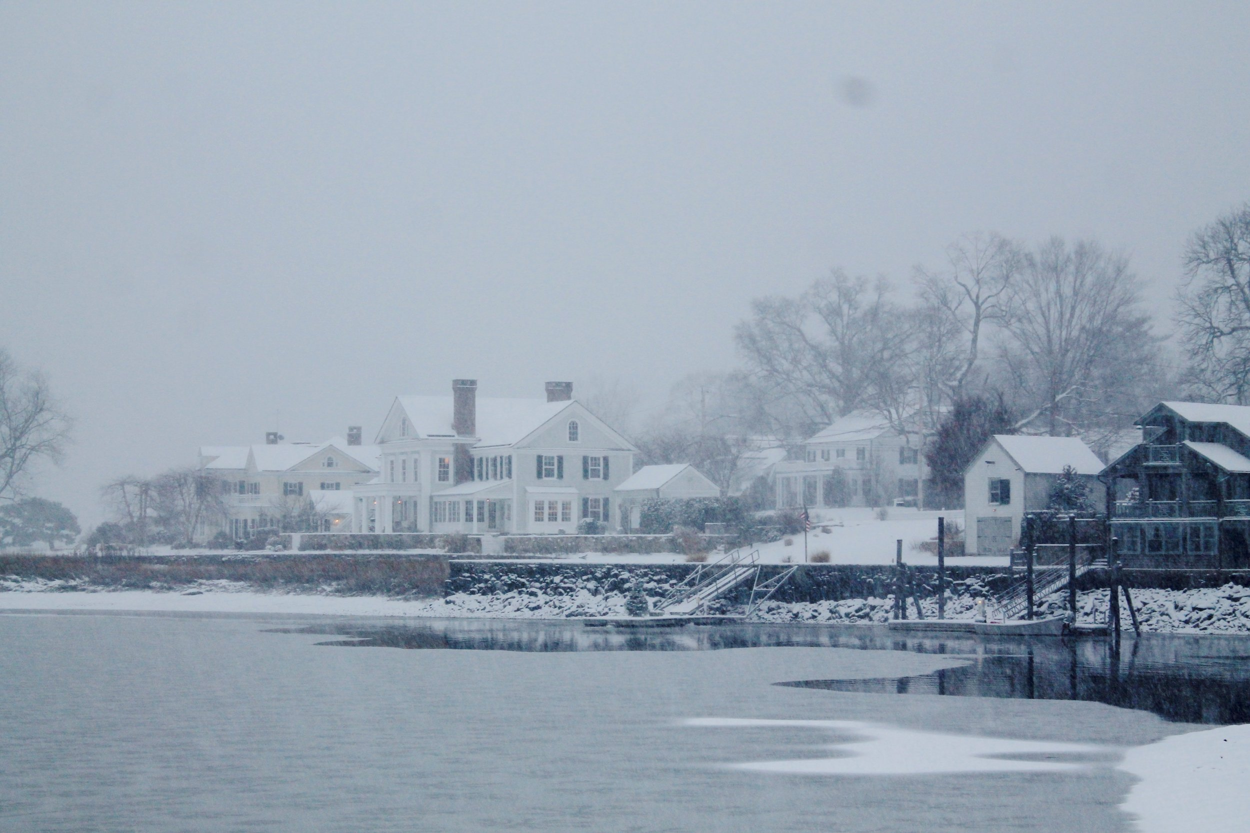 Snowy Scenes from a Coastal New England Town. Southport, Connecticut. ll images property of Jessica Gordon Ryan/The Entertaining House