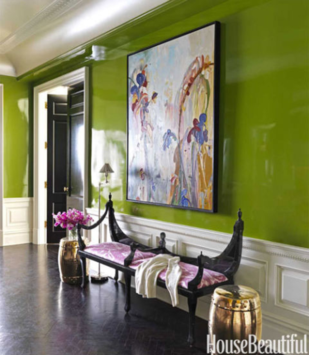 Pantone's Color of the Year gets a Green Thumbs Up!  Image via House Beautiful