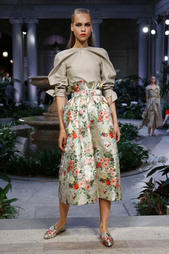 Floral Notes :: What to wear this spring. Image Carolina Herrera, Business of Fashion