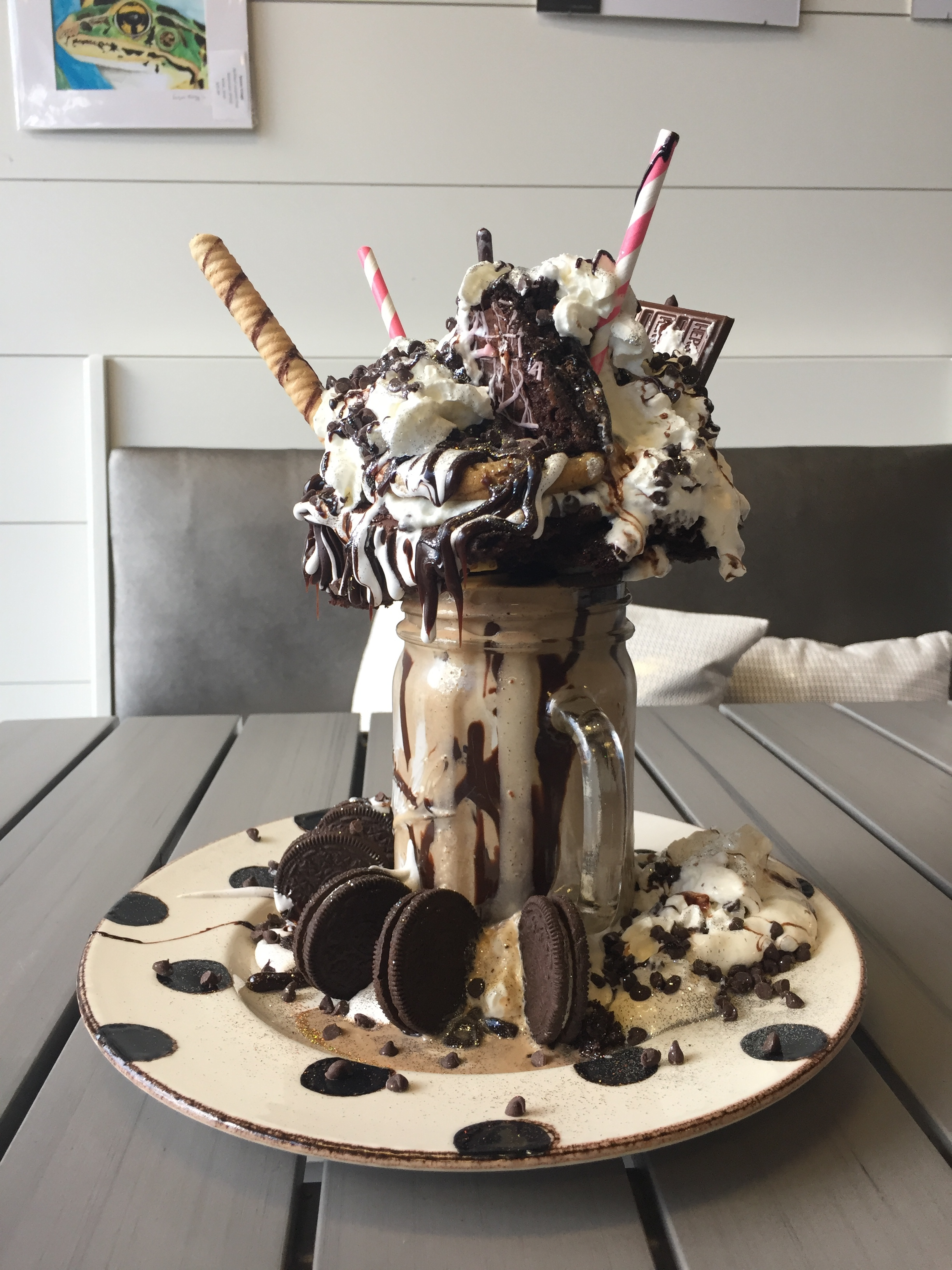 Cream & Sugar Cafe Scoops up some Freakishly Large Shakes. Image property of The Entertaining House
