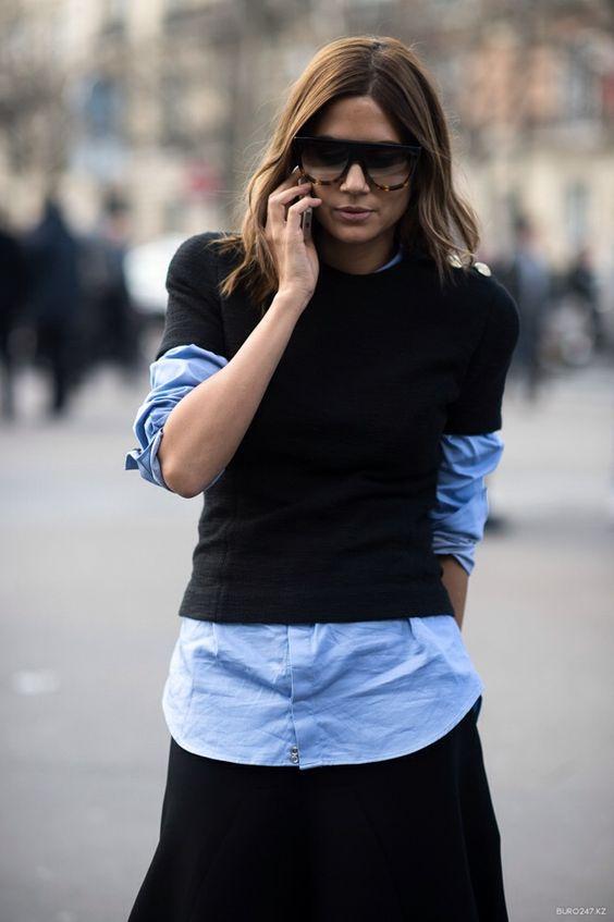 Celebrating the Little Black Sweater. Image via Tumblr