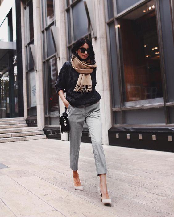 Celebrating the Little Black Sweater. Image via  Styleholic