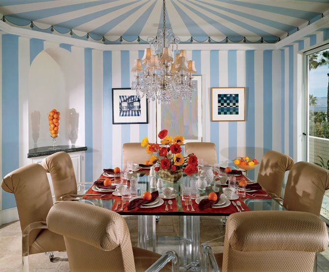Under the Big Top: Ceilings to Inspire. Image possibly  Dorothy Draper Design