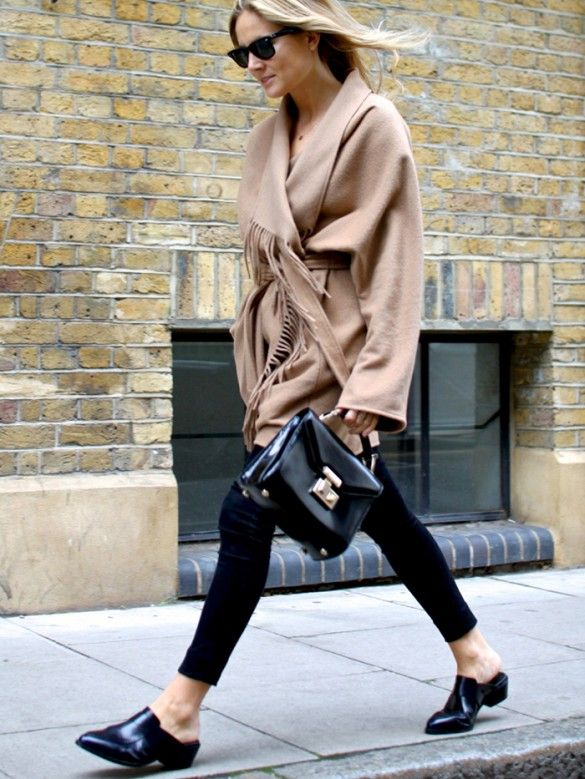 Mules are popular across the Pond according to  Fashion Me Now (Is this a kinder, gentler clog, perhaps?)