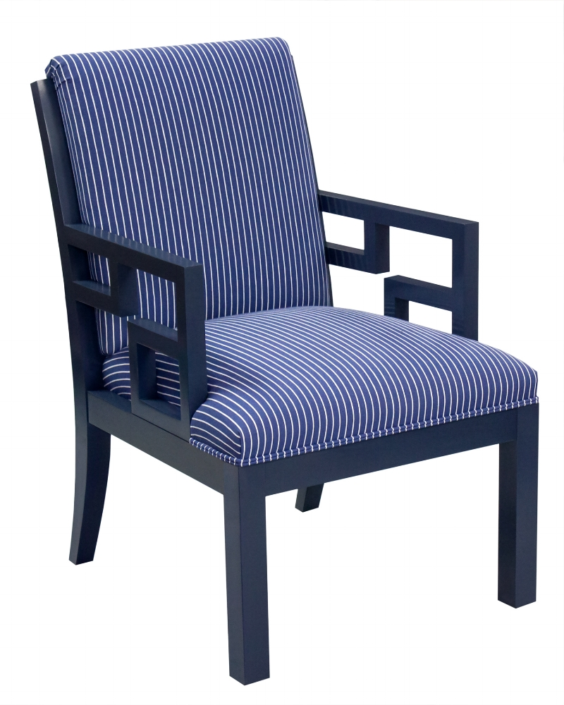 Arrowhead Chinoi chair, Windsor Stripe. Decorating like Dorothy Draper.