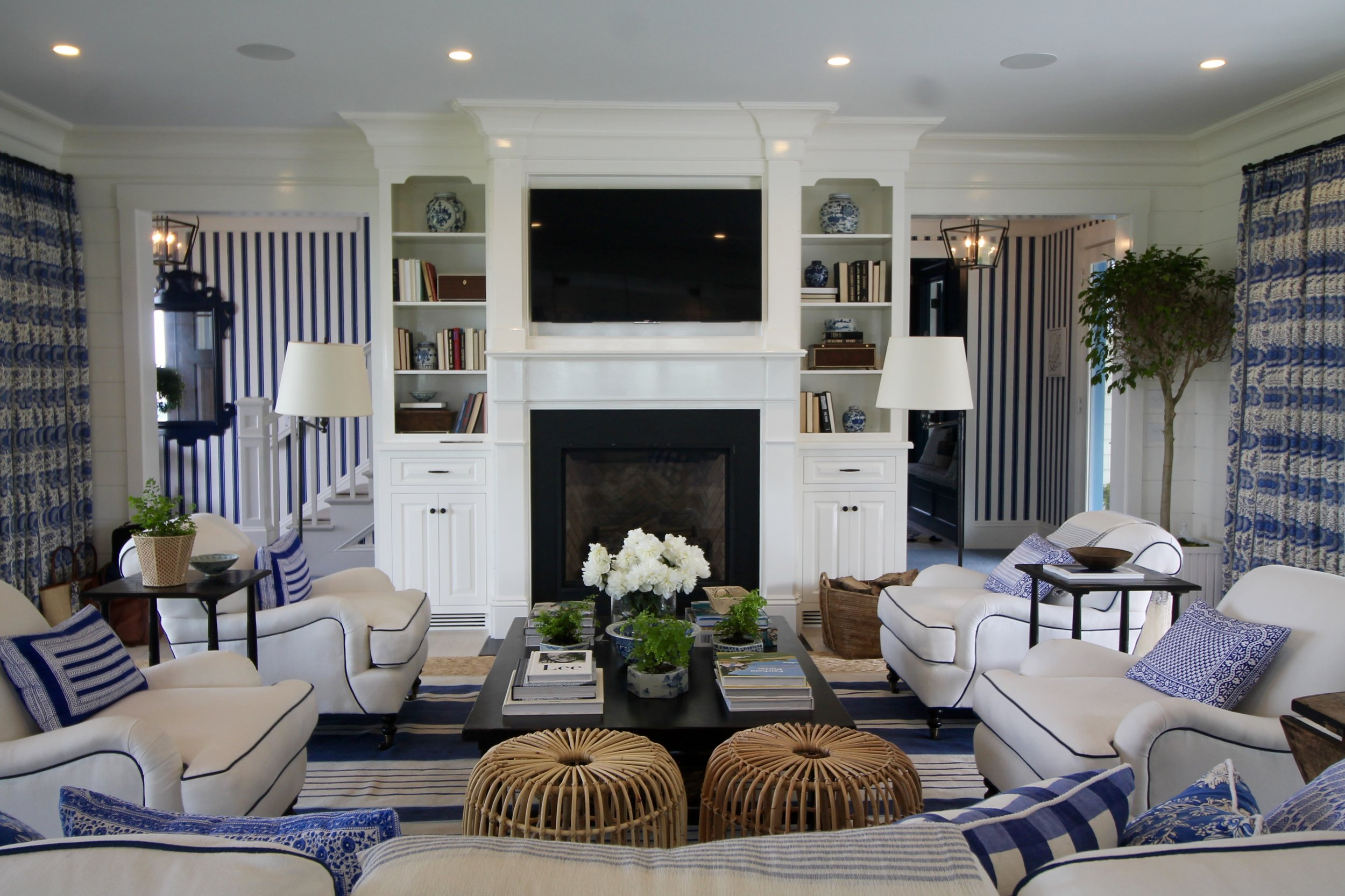 Inside Coastal Living Magazine's 2017 Idea House in Newport, Rhode Island. Images property of The Entertaining House