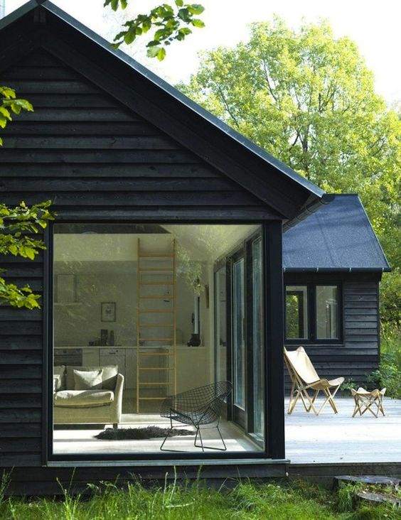 Little Black Houses - Image via Remodelista