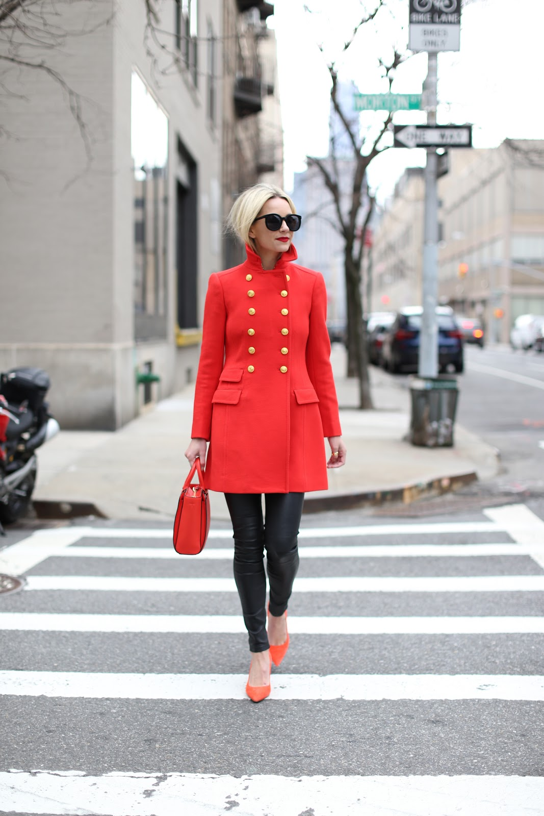 Red Hot Military Coat - Image via Just the Design