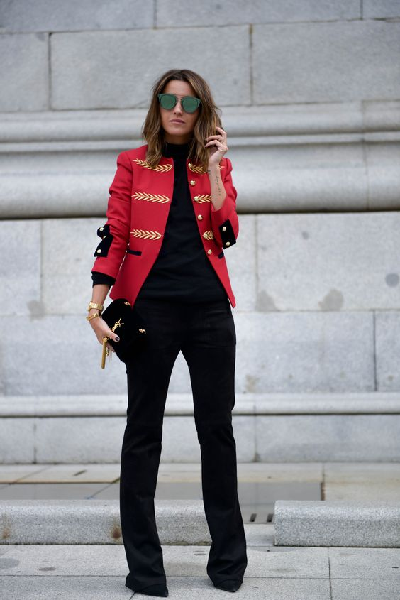 Red Hot Military Jacket - Image Vogue Spain