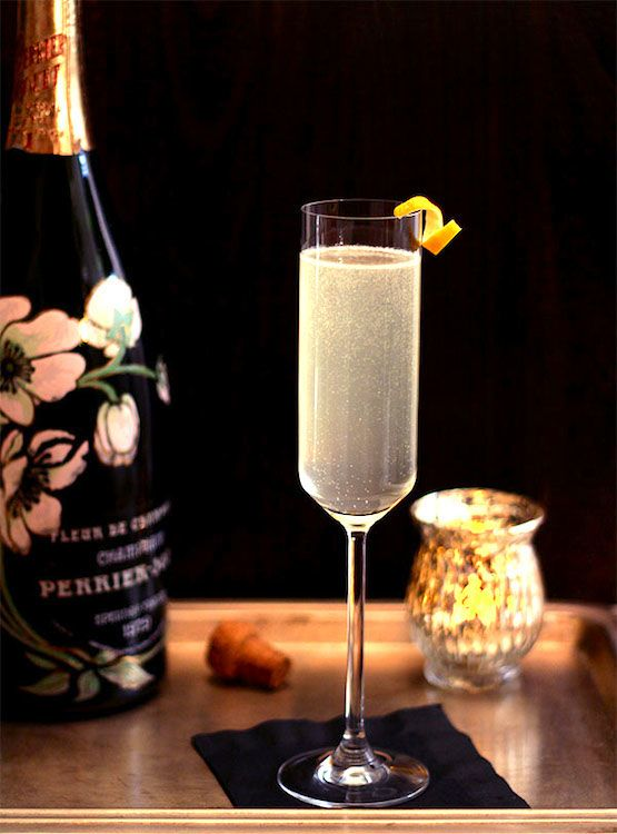 Celebrate the New Year with a French 75 Champagne Cocktail!