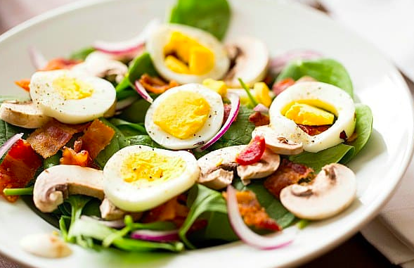 Spinach Salad, Image by Brown Eyed Baker