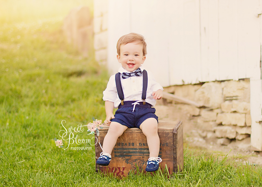 Dayton Ohio Baby 1st Birthday Photographer | Sweet Bloom Photography | www.sweetbloomphotography.com