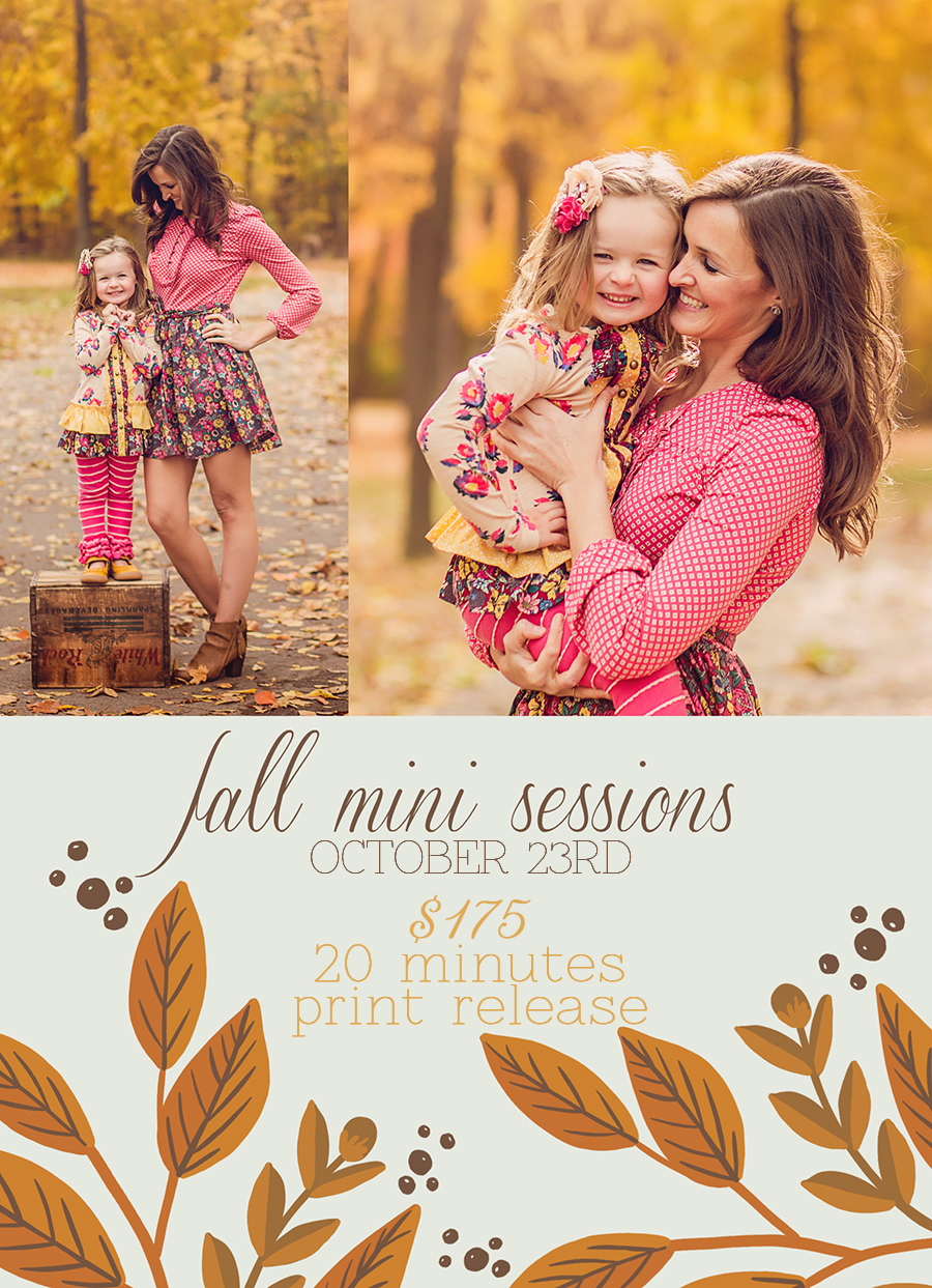 Fall Mini Sessions in Dayton Ohio | Sweet Bloom Photography | www.sweetbloomphotography.com