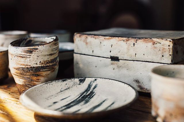 """My favourite ceramicist Lee Kang Hyo works in his studio in the Korean countryside with his wife who is also a celebrated ceramicist. I love couples that breathe and work in the same field 😄 The best film I watched in the past year is by @goldmarkart documenting Master Lee's creative process, and his energy, his grace when creating is mesmerising. You can feel his energy when you see the brushstrokes and marks of his hand, no? Our collection at home of his work grew exponentially thanks to the generosity of @ourhour, but more importantly, @ourhour promised to take us to Master Lee's studio next time we go to Korea 🥰 """"Making art is like setting off to travel to places to find peace in the mind,"""" says Master Lee. I can't wait to hear more from him."""
