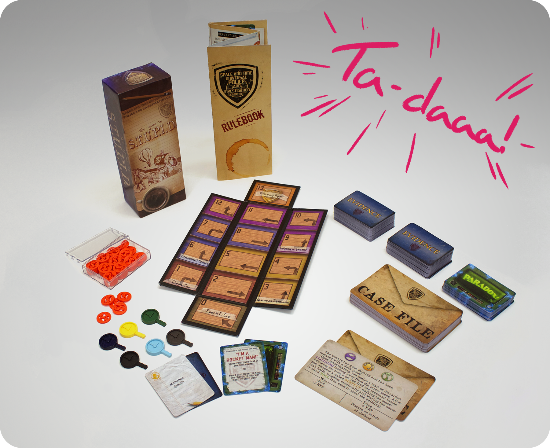This was the base game, we had even constructed 3 additional decks based on Science Fiction, Fantasy, and Vulgar cards to sell as expansion sets.