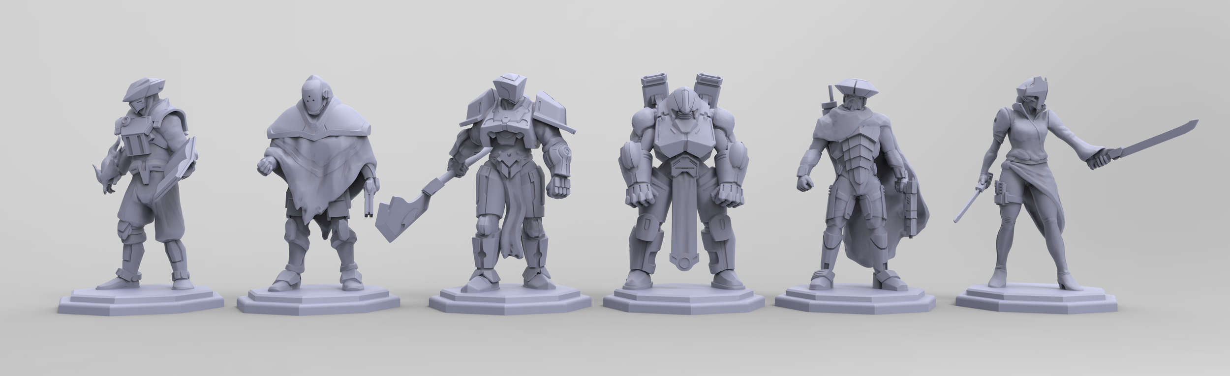 """Sculpted player pieces for Garage Collective's board game, working title """"Technomages"""""""