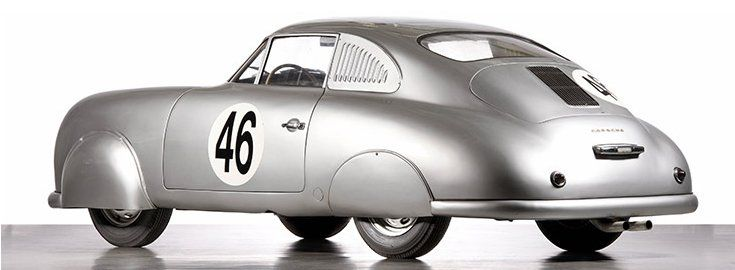The first official Porsche racing entrant was the 356 SL in 1951, a custom version of Porsche's first production car, the 356. At the 24 Hours of Le Mans, Porsche won the under 1100cc category in its first try thanks to its aluminum body.