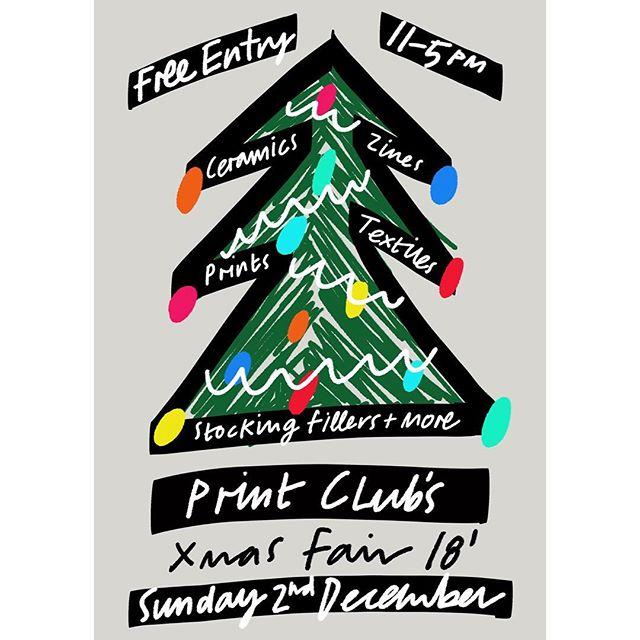 Go and check out @printclublondon Xmas Fair & @absorb_arts Xmas Show !!! 🎄⛄ 🎁  Sunday 2nd 11-5pm #xmasfair #artexhibition #screenprints #monoprint
